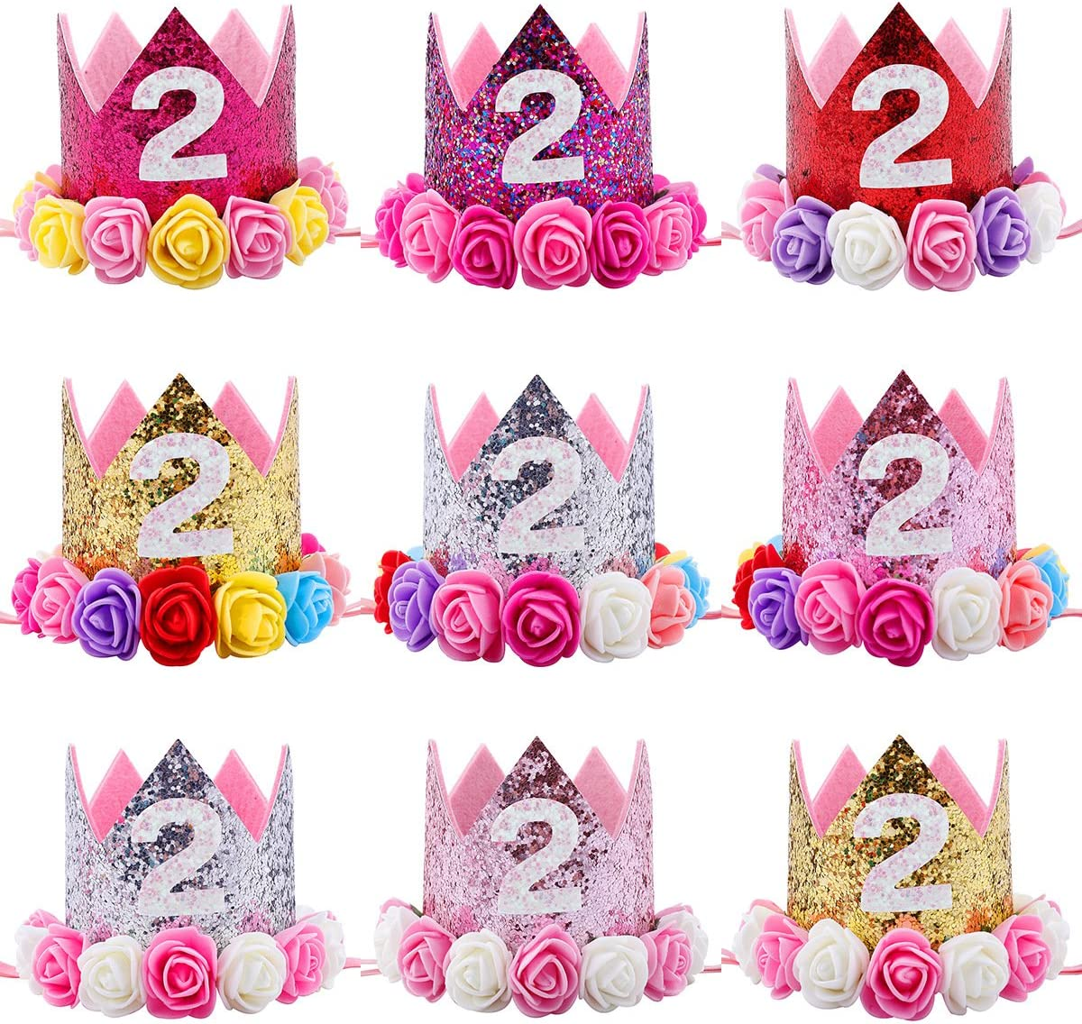 Missley Kids Halloween Bandeau de la licorne Princesse Elastic Headbands Turban Knot Headwear Christmas Party Pink