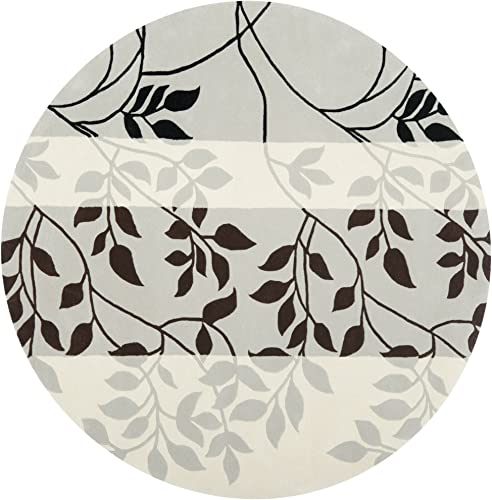 Safavieh Capri Collection CPR337A Handmade Grey and Multi Premium Wool Round Area Rug 7 Diameter