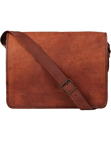 Rustic Town 15 inch Vintage Crossbody Genuine Leather Laptop Messenger Bag 662c08b7738b7