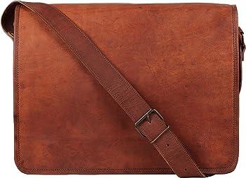 Rustic Town Vintage Crossbody 15 inch Genuine Leather Messenger Bag