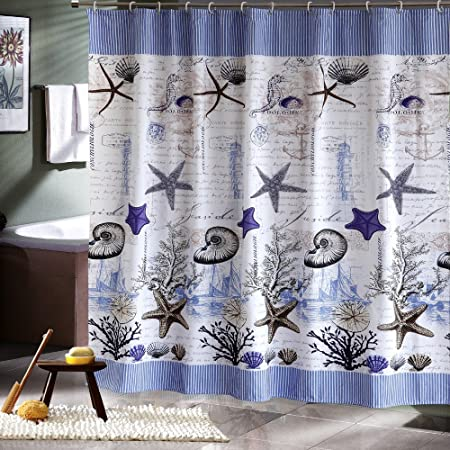 Extra Long Hookless Shower Curtain Fabric Shower Curtain Liner 80