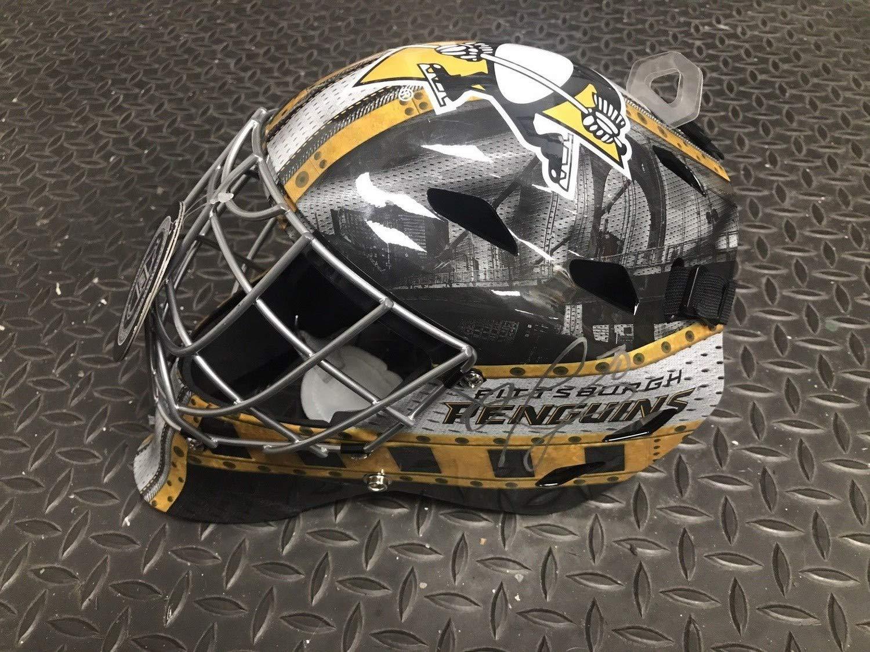 Matt Murray Autographed Signed Pittsburgh Penguins Full Size Goalie Mask Memorabilia JSA COA Helmet Auto