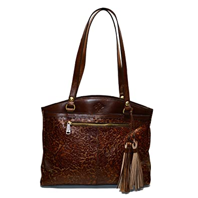 08aaf22fbe Image Unavailable. Image not available for. Color  Patricia Nash Poppy  Glitter Rose Collection Gold Shoulder Bag