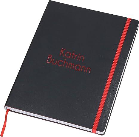Wendelin: Personalisiertes Notizbuch DIN A5 Über 2500 Namen bereits verf Durch Vornamen auf dem Cover 80 blanko Seiten mit kleiner Katze auf jeder rechten unteren Seite Coverfinish eine ..