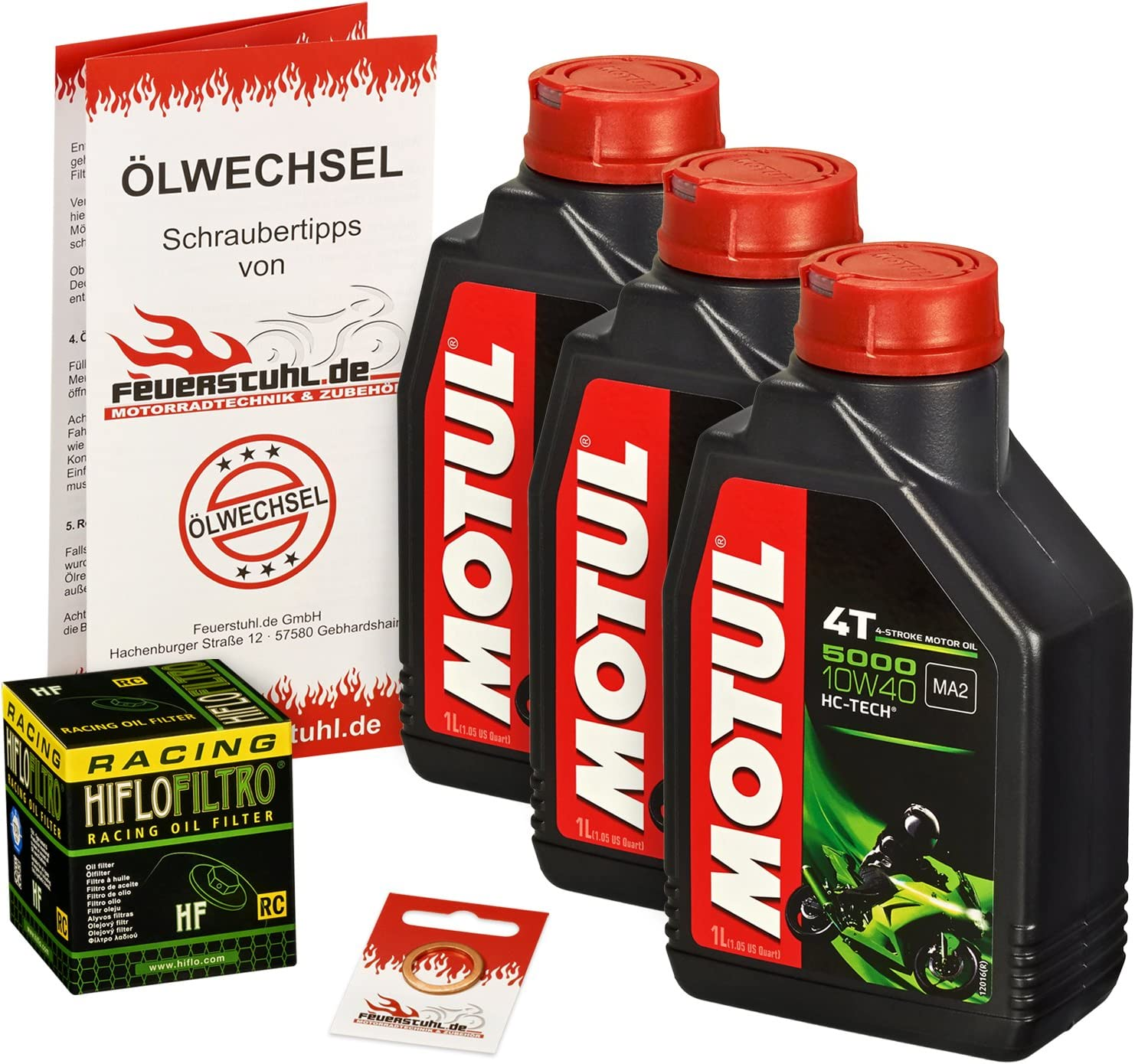 Motul 10w 40 Öl Hiflo Ölfilter Für Suzuki Dl 650 V Strom Xt 04 15 B1 C7 Ölwechselset Inkl Motoröl Racing Filter Dichtring Auto