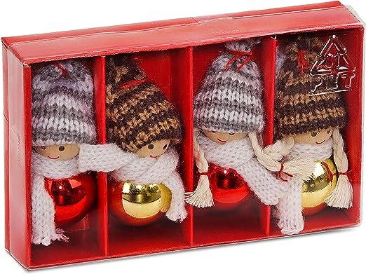 Brubaker - Set de figuras de Navidad (madera, 8 cm, en caja de ...