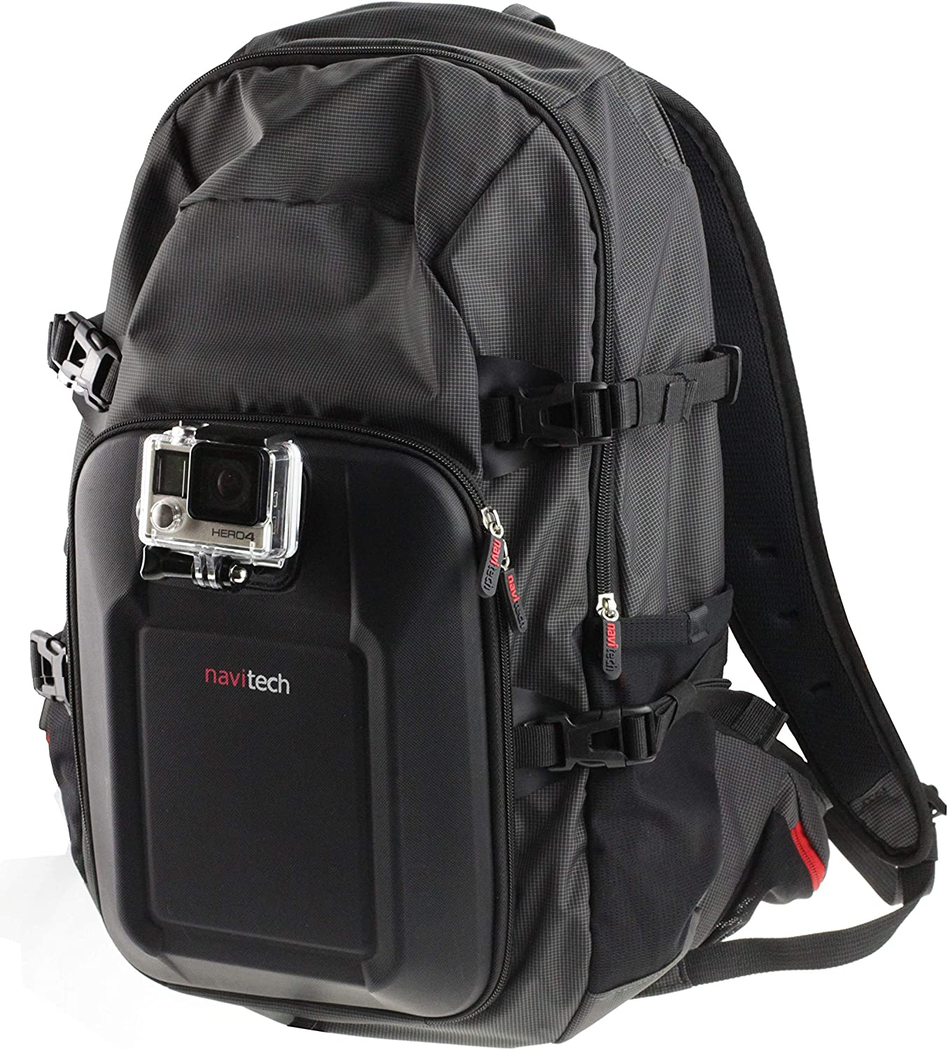 Navitech Action Camera Backpack with Integrated Chest Strap Compatible with The Midland XTC-100 XTC-260VP3 Action Camera XTC-400 XTC-300 XTC-200