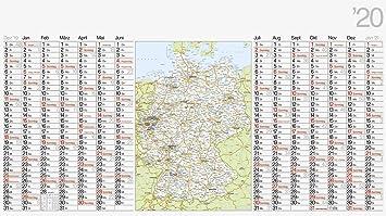Kalender 2020 Plakatkalender Wandkalender mit Landkarte Deutschland 1Stück