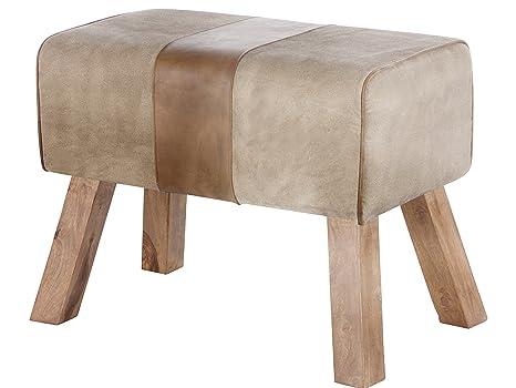 Sgabello hektor in legno massello e imbottiti in pelle di tela per