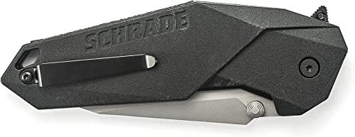 Schrade SCHA5 M.A.G.I.C. Assisted Opening Liner Lock Folding Knife, Silver