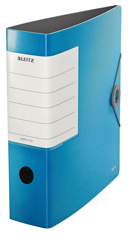 Leitz, Archivador de Palanca, Azul Claro, A4, Lomo recto de 8,2 cm ancho, Cierre con Goma elástica, Polyfoam Ligero, 180° Solid, 11120030: Amazon.es: ...
