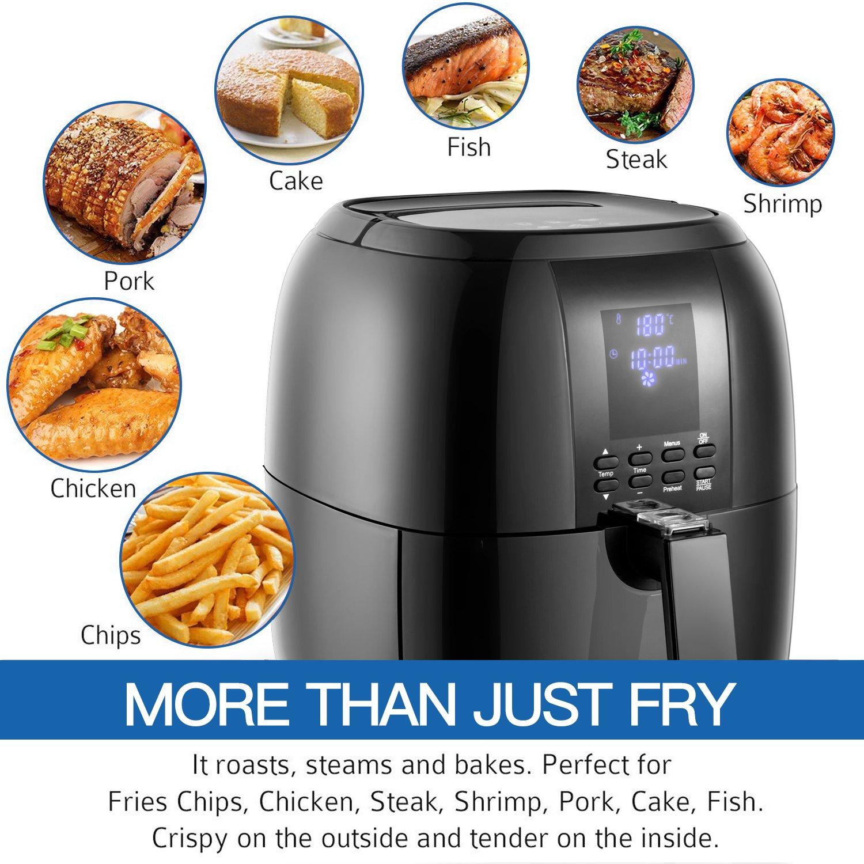 Sinoartizan Air Fryer Deep Fryer Oven Electric Airfryer 4.2 Quart 1400 Watt Oil Free Electirc Hot Air Fryer Deep Fryer Electric Oven With Basket And Cookbooks For Home Kitchen by Sinoartizan (Image #3)