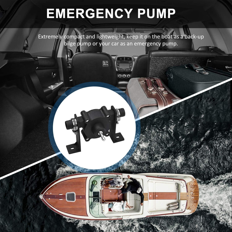 Portable Drill Pump Self Priming Oil Fluid Water Transfer Pump Emergency Bilge Pump Watering Fish Tank Pump for All Drills and Fluids