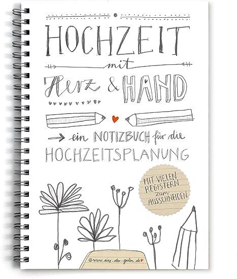 Hochzeitsplaner Weddingplaner Notizbuch Kein Ratgeber Schönes Kalligrafie Design Mit Vielen Registern Zum Selbst Ausschneiden Grau Weiß Beige