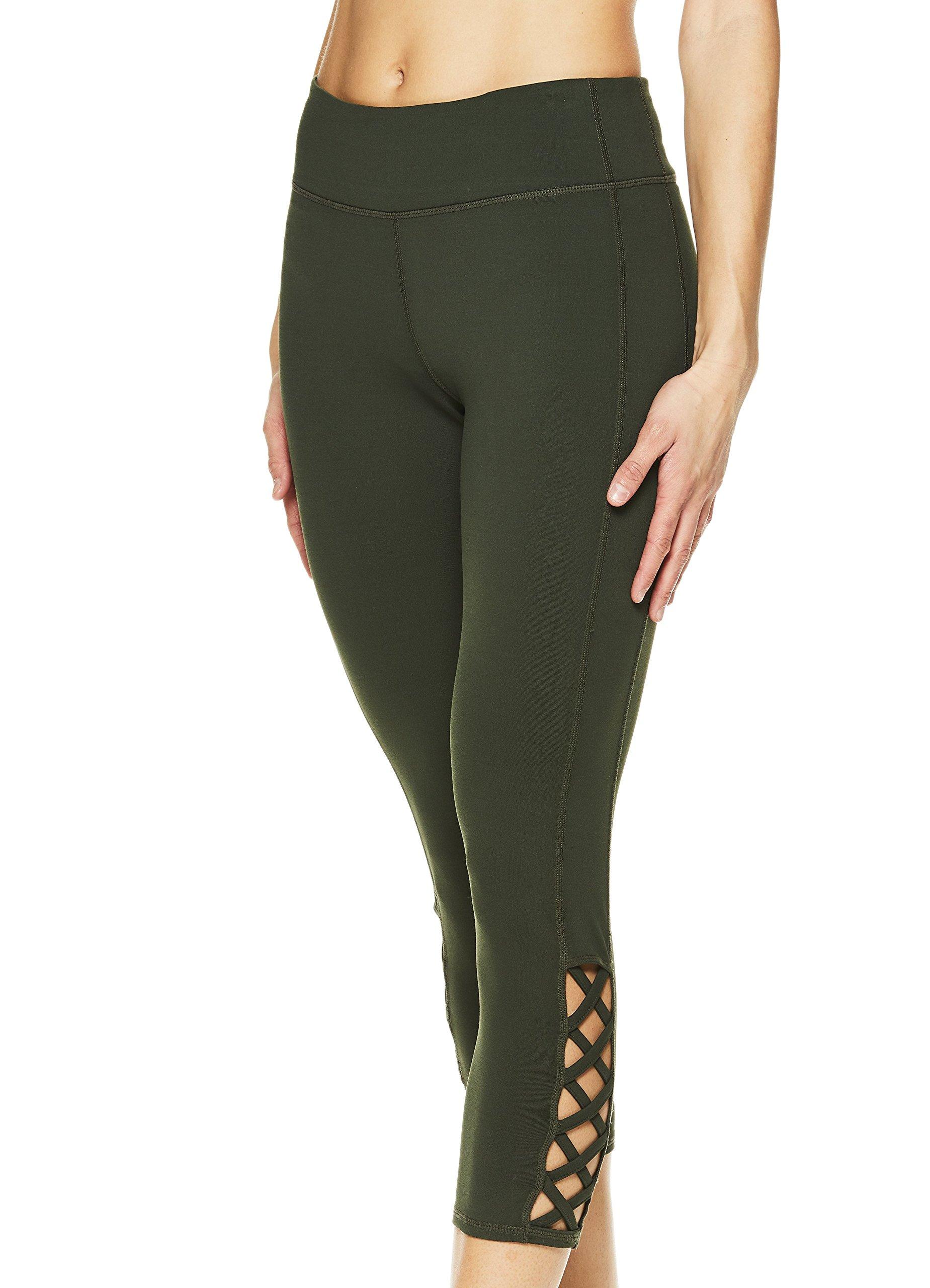 Gaiam Women's Capri Yoga Pants - Performance Spandex Compression Legging - Dufflebag, 3X by Gaiam (Image #5)