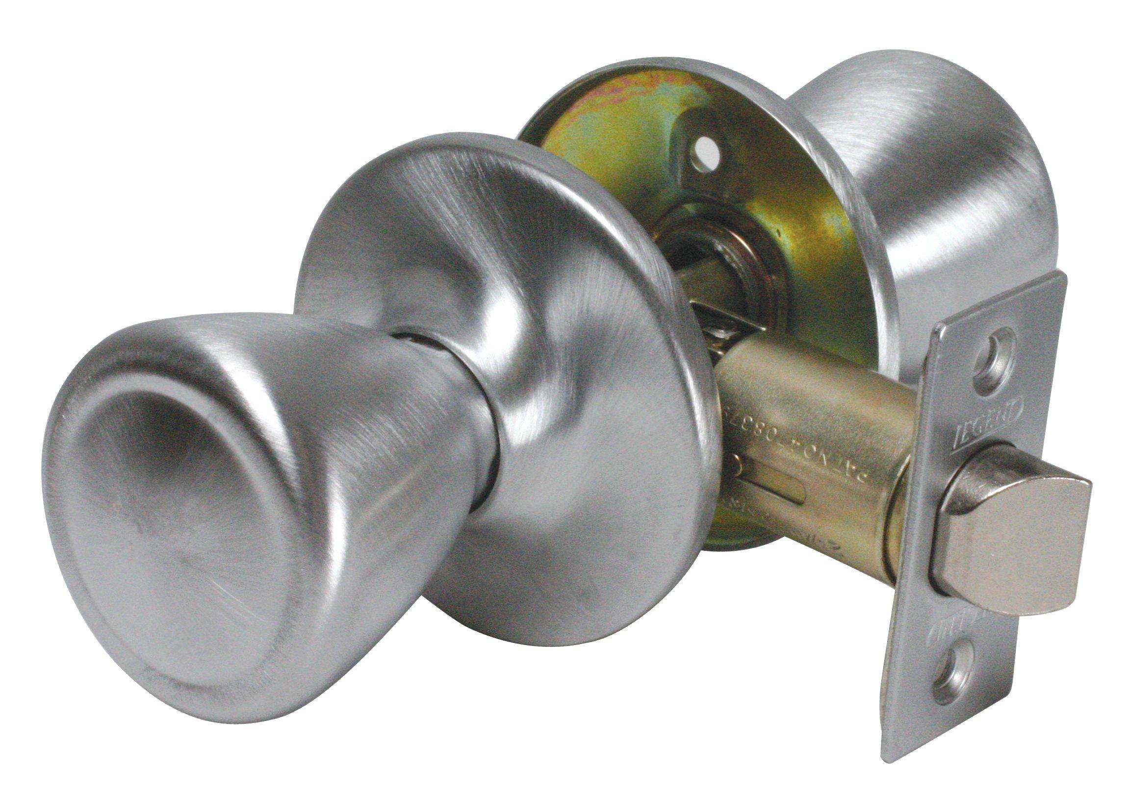 Legend 809027 Tulip Style Door Knob Hall and Closet Passage Lockset, US27 Brushed Aluminum Finish