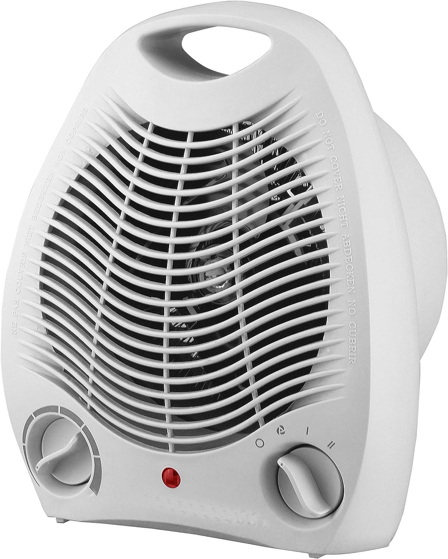 TENCO TH301 - Calefactor 2000W, Termostato Regulable, Color Blanco