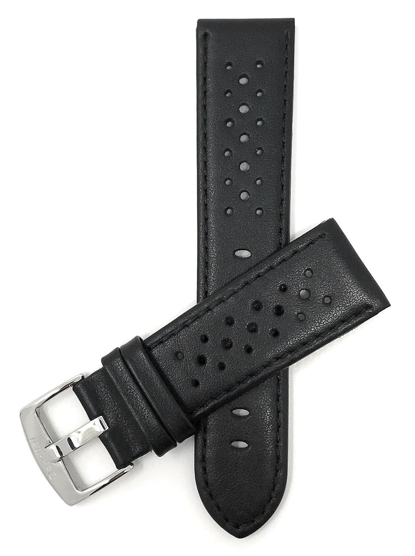 (バンディニ) Bandini 通気孔付き本革製腕時計バンド レーサー ステンレス製バックル付き 18~24mm 選べるカラー 20M-XL ブラック B0776P16ZN 20M-XL|ブラック ブラック 20M-XL