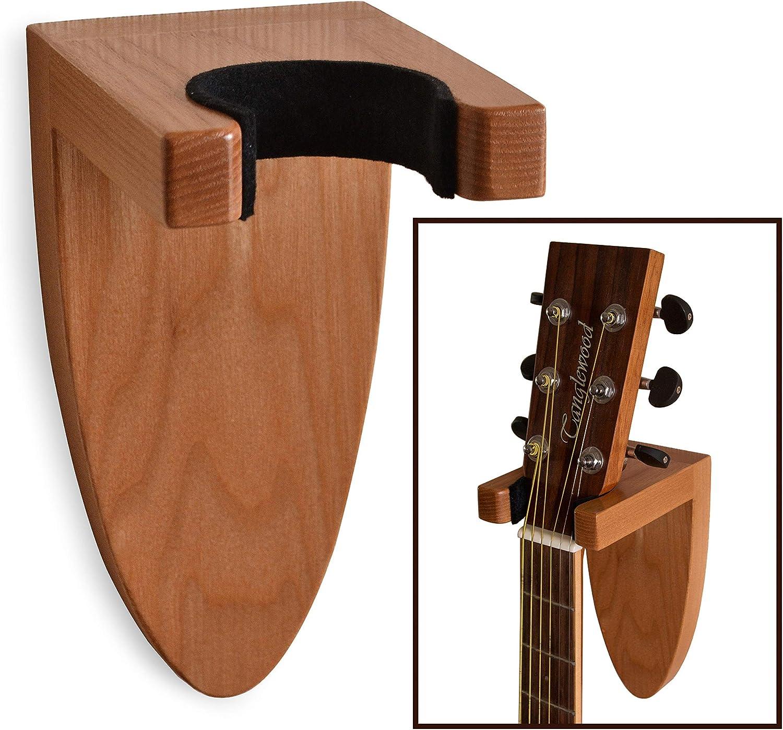 Soporte de pared para guitarra, de madera de fresno, para guitarra ...