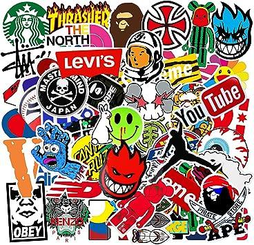 Aufkleber Pack 101 Stück Vsco Graffiti Vinyl Stickers Für Laptop Autos Fahrrad Skateboard Gepäck Koffer Diy Party Supplies Patches Decal Aesthetic Wasserdicht Stickers Für Kinder Auto