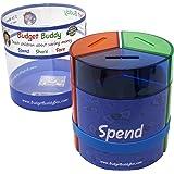 Save Spend Share Money Jar   Three-Part Money Tin Teaches Kids Financial Management - Deposit Coins and Bills