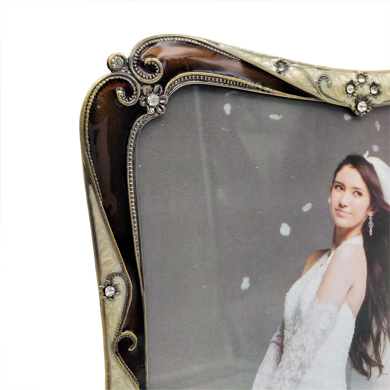 Tabletop Display Made of Metal and HD Glass WorldWide Selection 4x6 Ornate Retro Vintage Pictures Frame//Photo Frames//Wedding Photo Frames for 4 by 6 Inches Photo