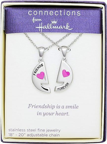Amazon.com: Colgante de acero inoxidable para amigos Forever ...