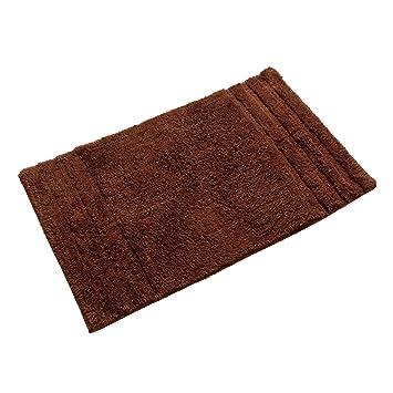 Badteppich Badematte Badvorleger Teppich schoko braun 50x80 cm Baumwolle neu
