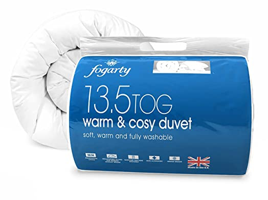 Fogarty Warm and Cosy 13.5 Tog Duvet - Double, White: Amazon.co.uk ... : fogarty quilts - Adamdwight.com
