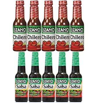 Lizano Taste | Chilero 5.5Oz (5 Pack) & English Salsa 4.5Oz (
