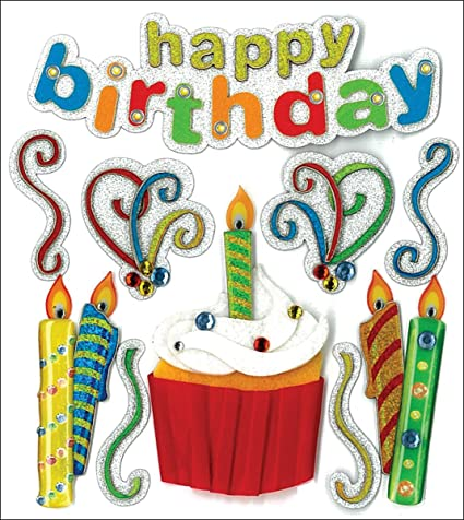Jolees Boutique Dimensional Stickers, Happy Birthday