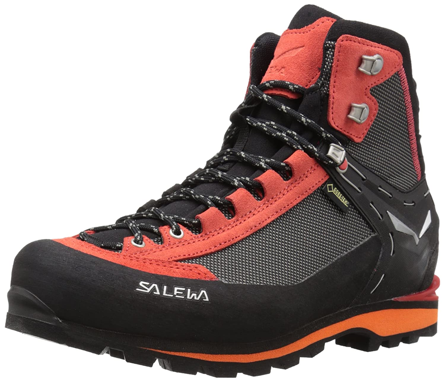 Salewa Men's Crow GTX Mountaineering Boots B011KICF0S 8.5 D(M) US|Black/Papavero