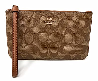 60406c692a614 Image Unavailable. Image not available for. Color  Coach Large Wristlet Signature  Canvas ...