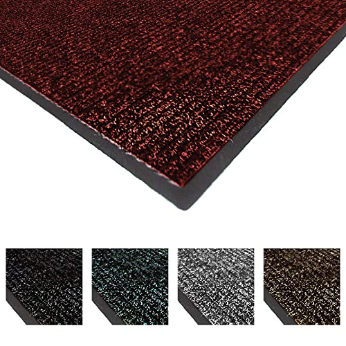 Notrax 117 Heritage Rib Entrance Mat, for Home or Office, 4 X 6 Red Black