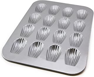 product image for USA Pan Bakeware Madeleine, Warp Resistant Nonstick Baking Pan, Made in The USA from Aluminized Steel, 16-Well, Silver