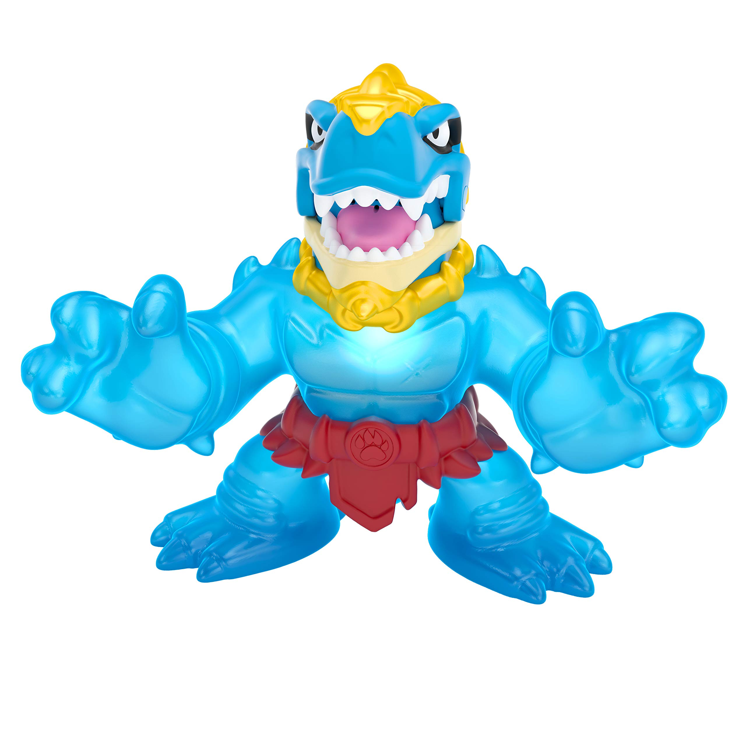 Heroes of Goo Jit Zu Dino Power Action Figure - Stretches up to 3X Original Size with Lights and Sounds - Dinogoo Tyro