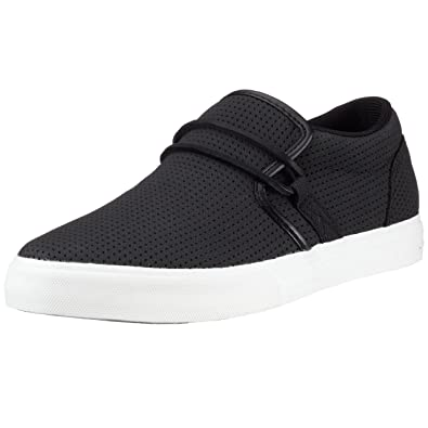 Supra Men's Shoes Cuban Tuf Black Perf Trainers Multicolour Black White
