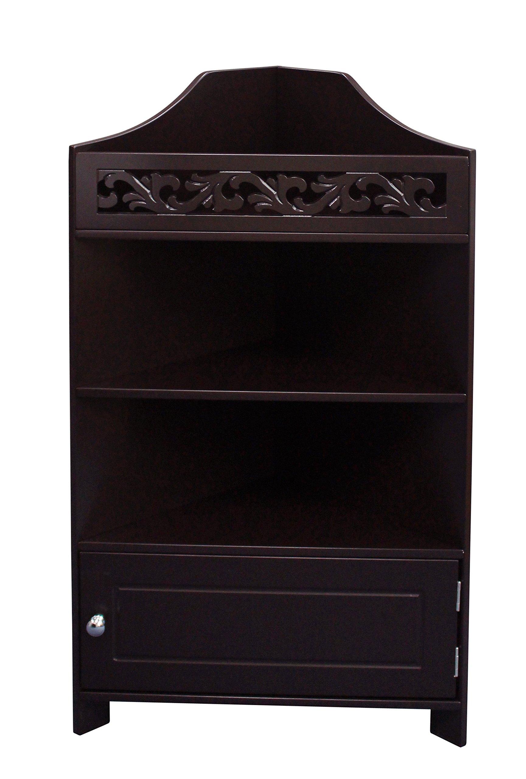 eHemco 3 Tier Corner Display,Shelf,Cabinet,Rack