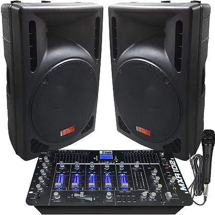 Amazon.com: Sistema de DJ - 2400 vatios - Altavoces ...