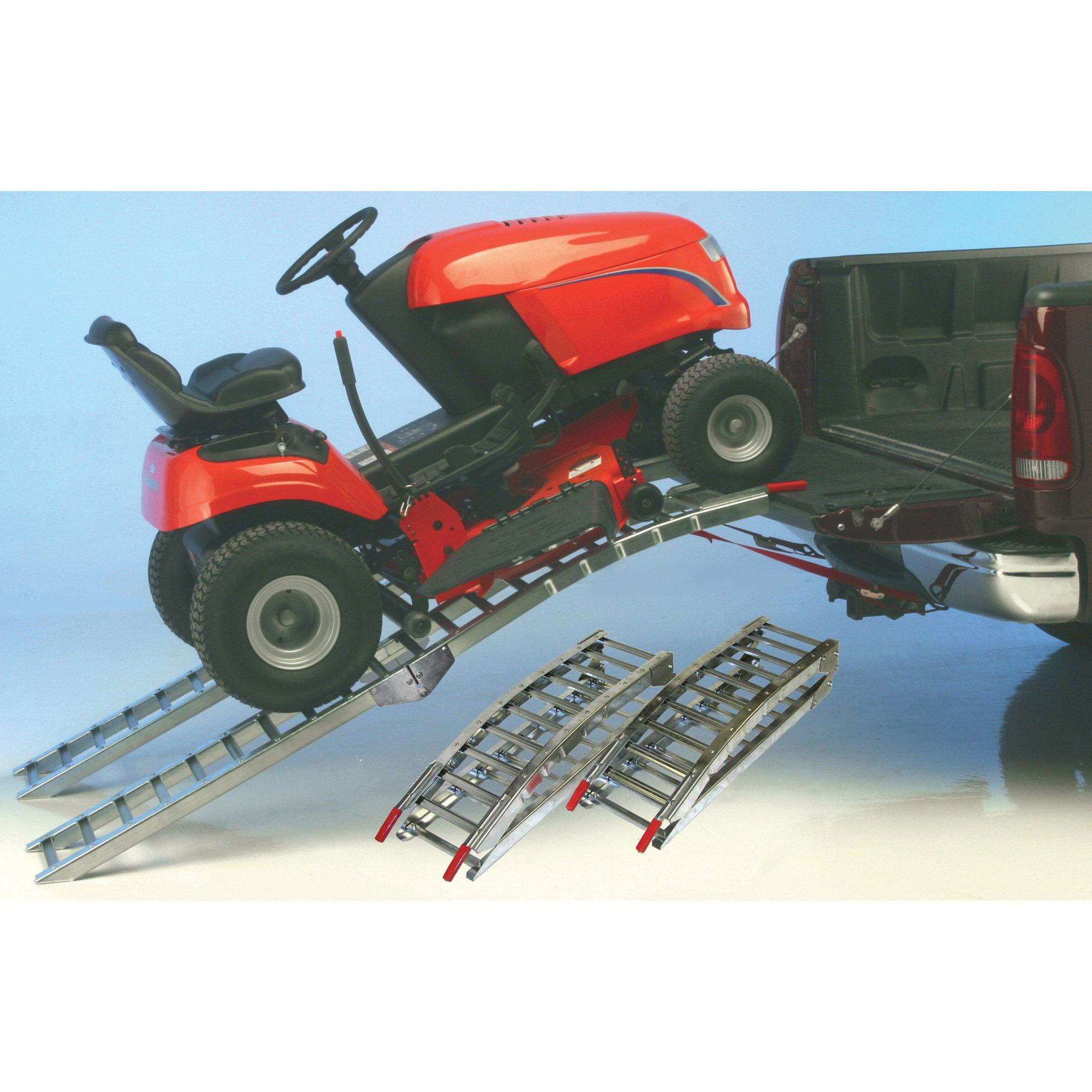 West Folding Arched Hybrid Ramp Set- 1,400-Lb. Capacity, 7ft.L, Model# 1224