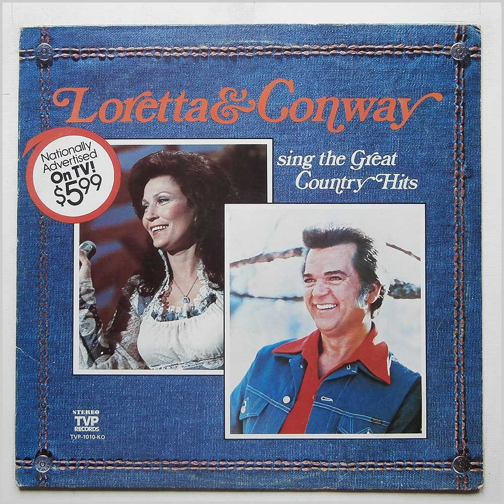 LORETTA LYNN & CONWAY TWITTY sing the great country hits TVP 1010 (LP vinyl record)