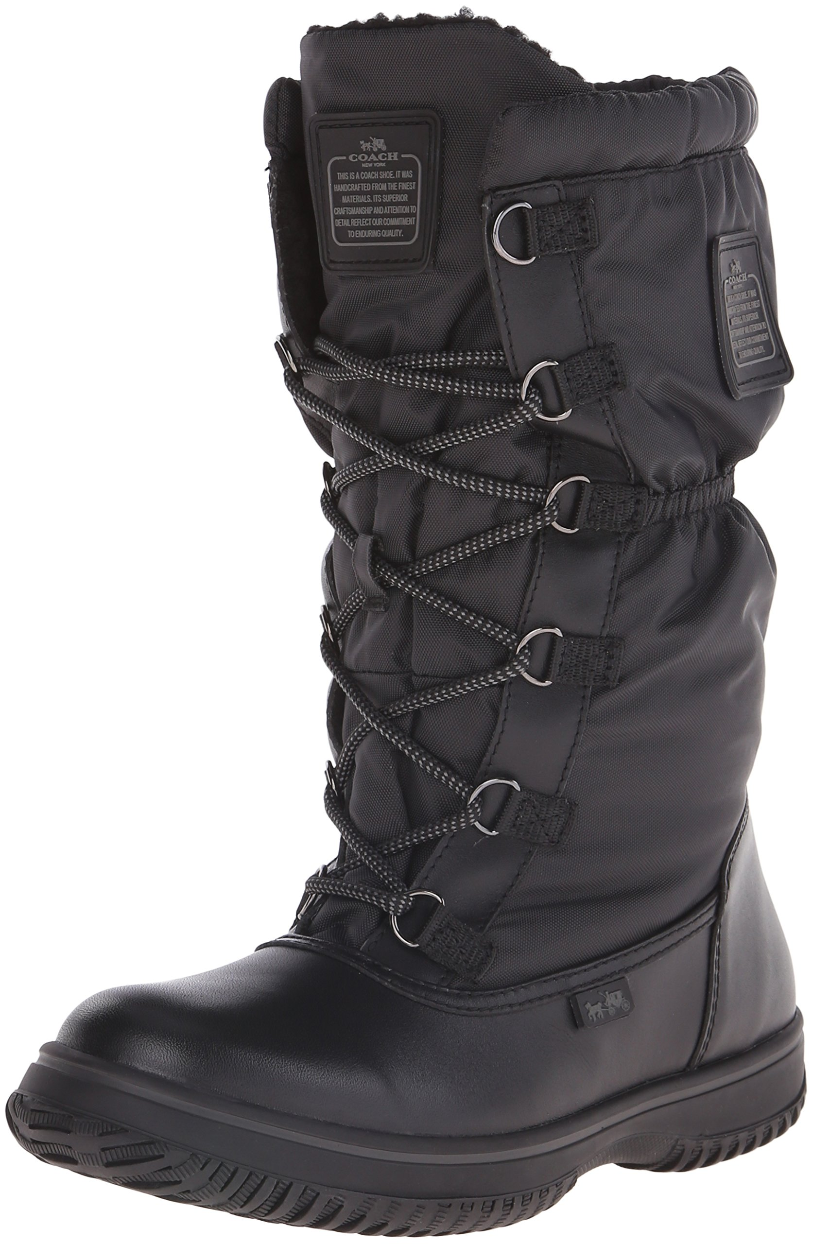 Coach Women¡¯s Sage Black/Black Lace-Up Cold Weather Boots 8.5 (B) M, Style A9177