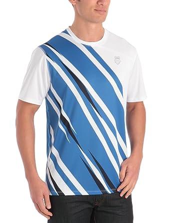 K-Swiss Camiseta de pádel para hombre, tamaño S, color blanco/strong