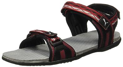 Puma Unisex s Nova Tibetan Red Black-Quarry Sandals-10 UK India (44.5 afd1e896b