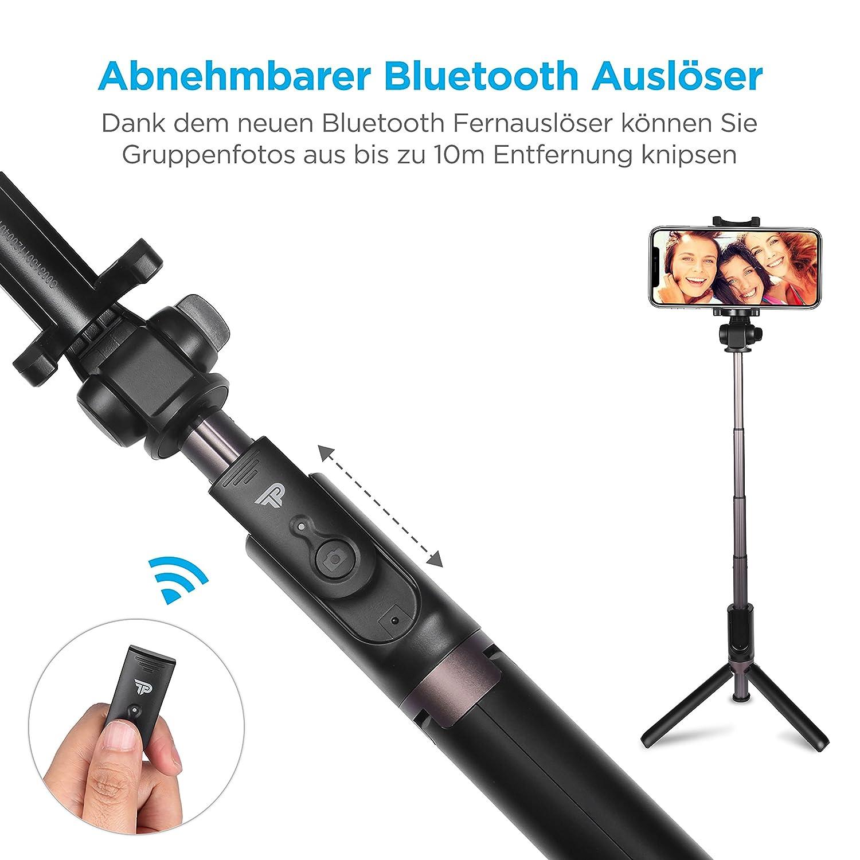 - Selfiestick mit Fernausl/öser und Verl/ängerbaren Stativbeinen f/ür alle Smartphones 80cm Power Theory Bluetooth Selfie Stick mit Handy und Kamera Stativ Selfi Stange Digitalkameras und GoPro