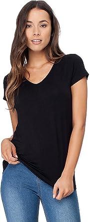Bamboo T-Shirt V-Neck Short Sleeve Top Tee Mens Premium Natural Clothes