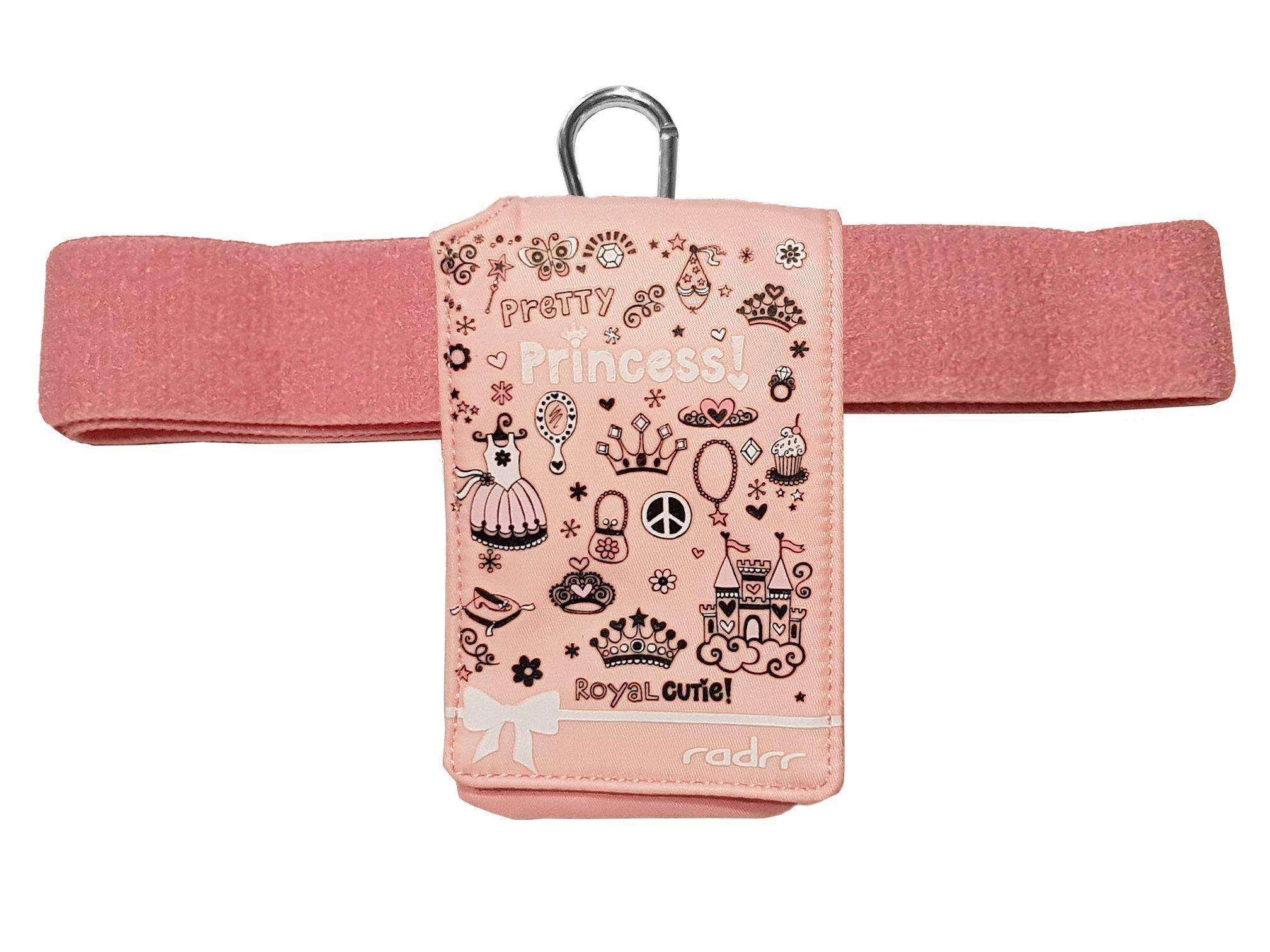 Insulin Pump Universal Case - Pink Princess Design with Belt by radrr