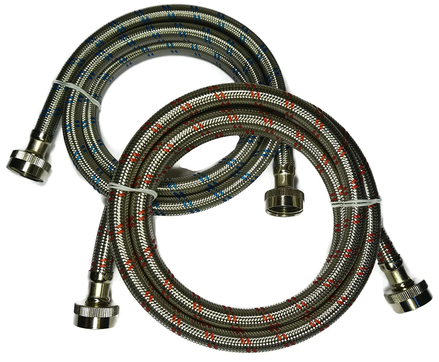Premium Stainless Steel Washing Machine Hoses, 6 Ft Burst Proof
