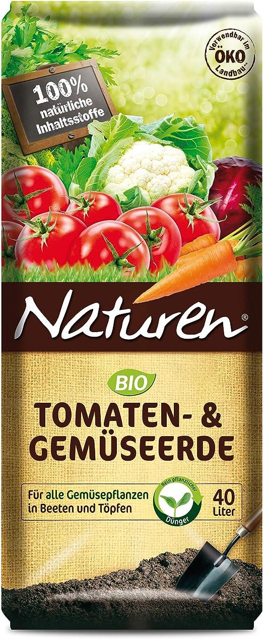 Naturen – ® 1806 bio de tomates y verduras Tierra 40 litros, para todas las Plantas de verduras en beeten & Ollas: Amazon.es: Jardín