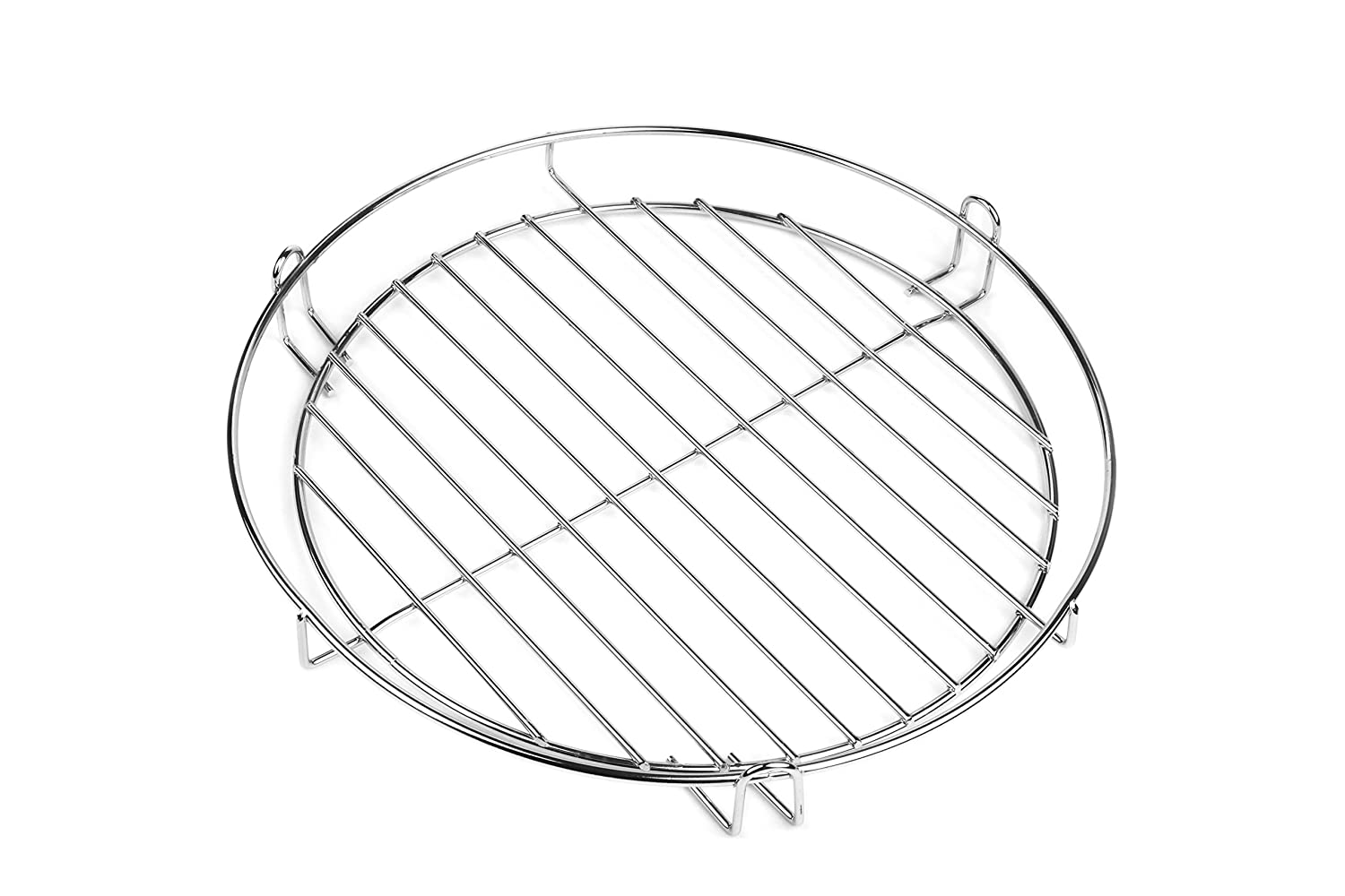 30 cm Chrome Grill with railing for Hanging Keep Warm Grill for Grill Pan 3/Leg
